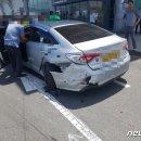 어제자 김해공항 택시 추돌사고