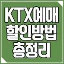 KTX예매 50% 할인 조기예매 할인 방법