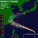 18호 태풍 탈림 예상 경로와 전망, 대만~중국 상륙 유력