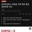 [단독] 컴투스·<b>게임빌</b>, 직원 연봉 '평균 800만원' 인상