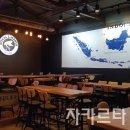 익산 카페벽화] 펍 앤 카페 익산 자카르타 실내 인테리어 인도네시아 지도벽화