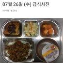 소방관 식단사진과 유치원 급식사진 비교