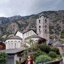 피레네산맥 속 안도라 시내 풍경 : 구시가지와 신시가지