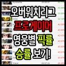 오버워치리그 영웅별 픽률, 승률 조합등 메타확인 사이트