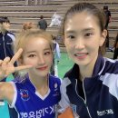 최근 김진아 치어리더&배구 선수 김수지.jpg