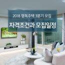 2018 행복주택 3분기 모집 자격 조건과 모집 일정