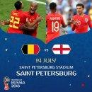 2018 FIFA 러시아 월드컵 3,4위전 : 벨기에 vs 잉글랜드 프리뷰