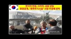 한국의 반응, 시리아, 공습 당일 현장공개..