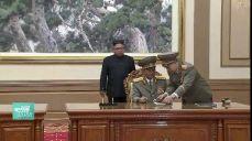 [현장영상] 송영무·노광철, 판문점선언 이행 군사분야 합의서 서명