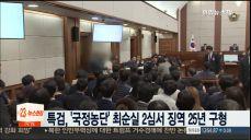 특검, '국정농단' 최순실 2심서 징역 25년 구형