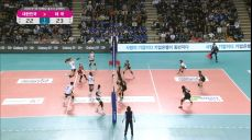 김연경의 한방슛! 동점을 만들어내는 대한민국.