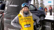 [월드컵] 여자 하프파이프 1차 - 아쉽게 넘어지는 클로이 김 FIS 국제스키대회 14회