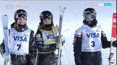 [월드컵 6차] 모굴 여자 결승 - 우승을 차지하는 카우프 FIS 국제스키대회 13회