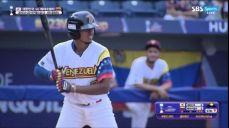 [대한민국 vs 베네수엘라] 이제 3점차, 득점하는 로메로 WBSC U-23 야구월드컵 9회