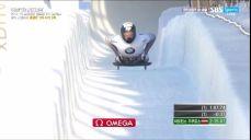[월드컵 7차] 스켈레톤 2차시기 - '현재 선두' 올라가는 마르틴스 두쿠르스 IBSF 월드컵 (봅슬레이, 스켈레톤) 47회