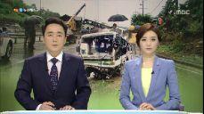경남 진주서 빗길 시외버스 전복사고…12명 사상